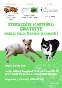 FREE SPAYING CAMPAIGN! 17 APRIL 2018